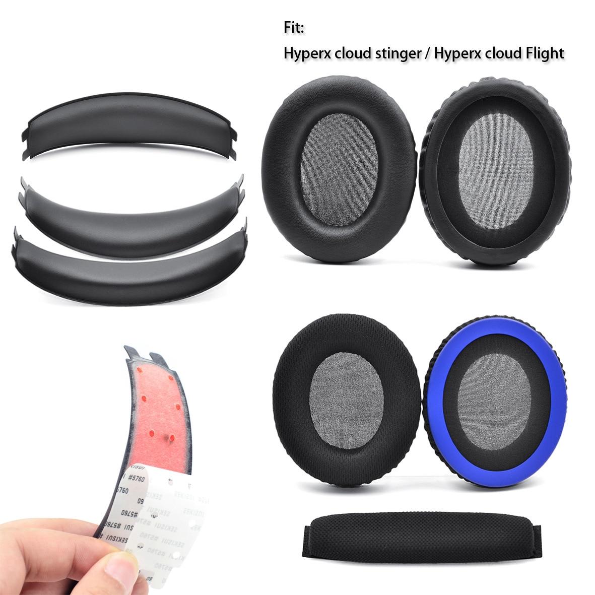 Almohadillas para la cabeza almohadillas para Kingston HYPERX Cloud Stinger Core 7,1 almohadillas blandas para HYPERX Cloud Flight
