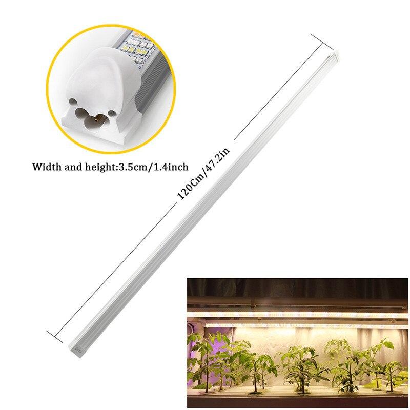 3pcs/Lot 120CM Full Spectrum Led Grow Light 60W T8 Tube Bar Phyto Lamp Strip for Indoor Plants Flower Growth Seeds Aquarium Tent enlarge