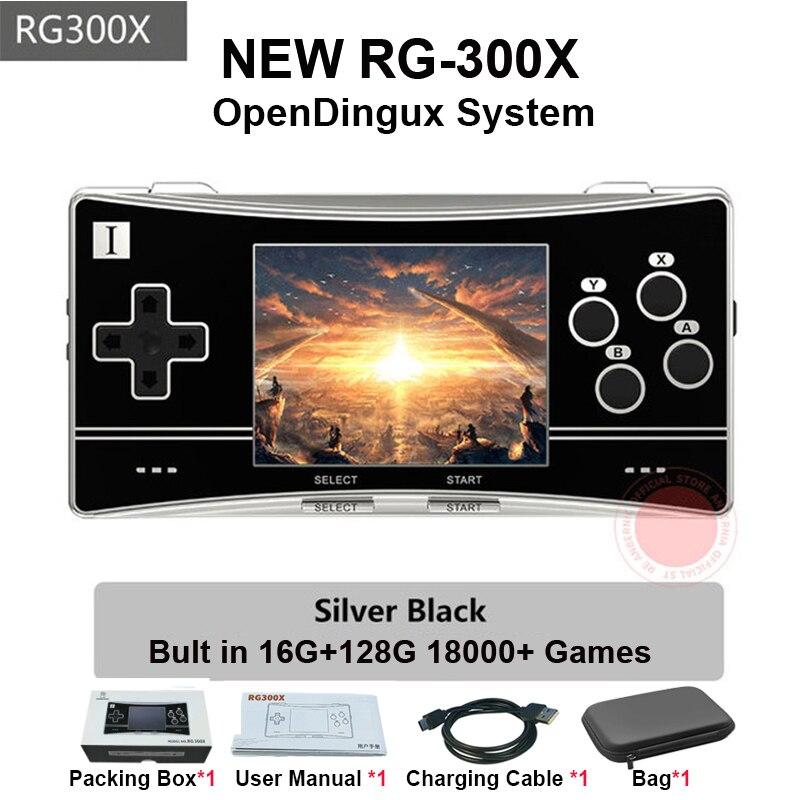 Anbernic RG300X Retro consola de juegos portátil Video juego jugador PS1 juego soporte HD 128g 18000 juegos de niños regalo del Q20 mini