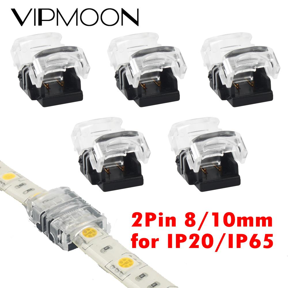 5pcs lot 2 3 4pin 5pin led strip connector for single rgb rgbw color 3528 5050 led strip to wire connection use terminals pn35 5pcs/lot 2pin 8mm 10mm LED Strip Connector for Single Color 3528 5050 LED Strip to Strip Connection Use Terminals CE RoHS