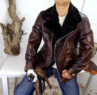 unconventional wild elephant grain fur one hit wax is red brown cowhide leather leather mens fur