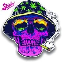 sticky smoker skull purple vinyl decal sticker car truck van suv window wall cup laptop waterproof pvc