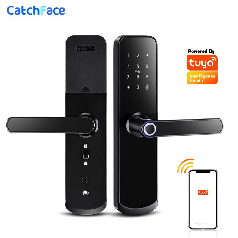 Review Wifi Electronic Smart Door Lock With Tuya App Security Biometric Fingerprint Lock With Door bell