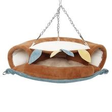Petit Animal en coton brun Jungle série Jungle   Animal de compagnie planeur à sucre, Cage de Hamster suspendue, lit écureuil maison nid de hérisson Tunnel de jouets