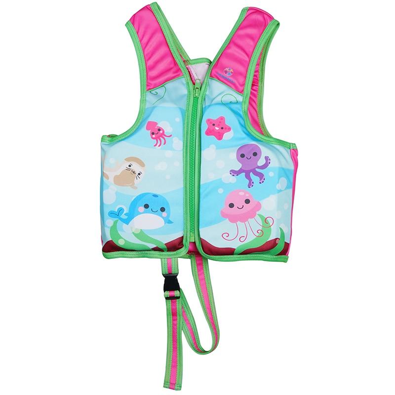 Chaleco deportivo de agua para niños con estampado de flores para aprender a nadar chaleco salvavidas para niñas