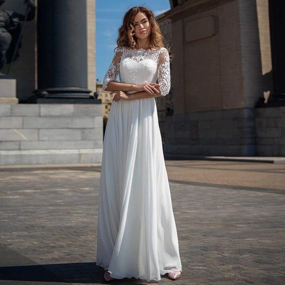 Винтажные Свадебные платья а-силуэта 2021, кружевные свадебные платья с открытой спиной и шлейфом, платья для невесты