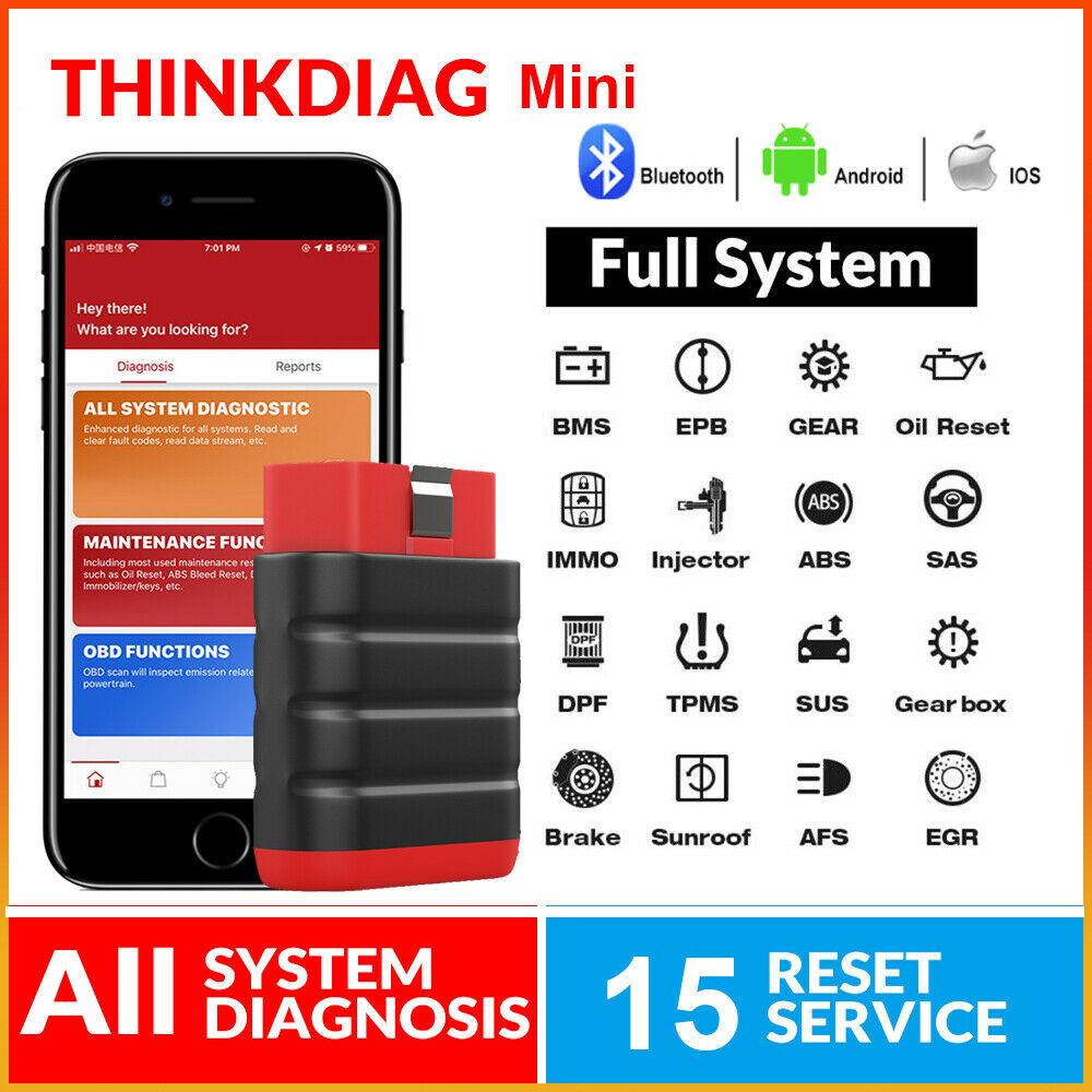 ThinkCar ThinkDiag мини-сканер OBD2, Автомобильный сканер OBD 2 TPMS, считыватель кодов, автомобильный диагностический инструмент, совместимый с Bluetooth, ...