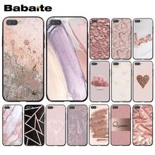 Babaite Gold Rose Glitter Pink Love Herat Phone Case for Huawei Honor 8X 9 10 20 Lite 7A 8A 5A 7C 10i 8C 9X Pro