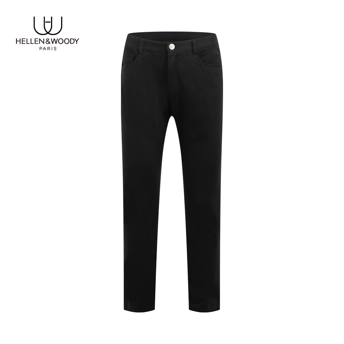 HELLEN&WOODY Luxury Men's Clothing Casual Slim Fit Straight Pants Solid Color Mens Trousers