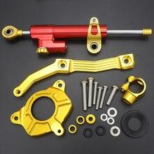 For Kawasaki Z1000 Z 1000 2010 - 2013 CNC Aluminum Motorcycle Steering Damper Stabilizer Bracket Mounting Support Kit Holder