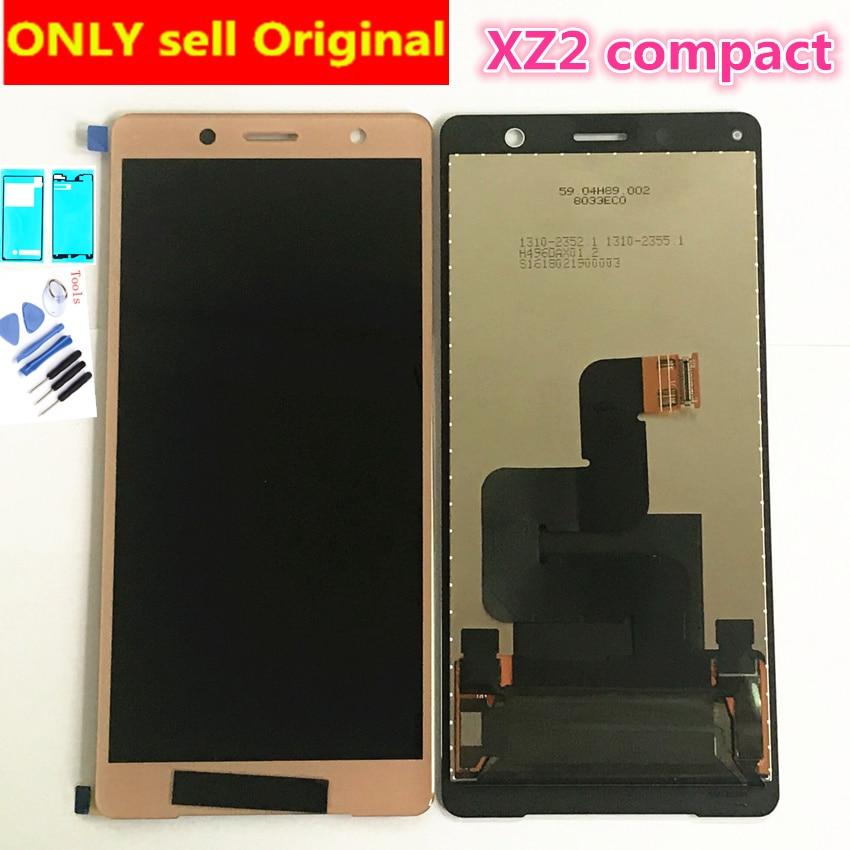 5.0 ips ips ips lcd para sony xperia xz2mini lcd display touch screen digitador assembléia substituição lcd para sony xz2 compacto lcd