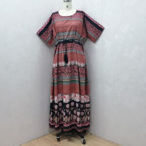 African Dresses For Women 2021 New Dashiki Loose Design Long Sleeve Polyester Plus Size Long Maxi Dress Muslim Fashion Abaya
