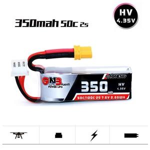 1PCS GAONENG GNB 2S 7.6V 350mAh HV 4,35 V 50C/100C Lipo XT30 battery for ETAFPV Beta75X 2S Beta65X 2S Whoop Tiny Drones