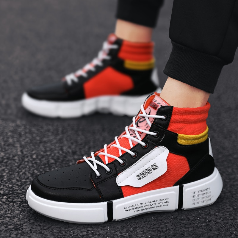 Fashion Men Sneakers Brand Men Casual Shoes Breathable High Top Footwears Hommes Chaussures Spring/A