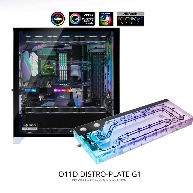 لوحة LIANLI Distro لـ O11D/ O11D XL Case ، مضخة مياه DDC 3.1 PWM + لوحة ممر البحر ، برنامج تبريد GPU مزدوج ، 5 فولت ARGB M/B SYNC
