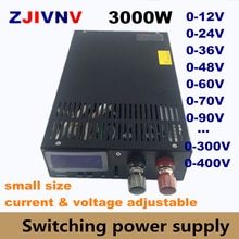 3000W zasilacz 0-12V 15V 24V 36V 48V 60V 80V 90V 110V 150V 220V 300V 400V AC-DC zasilanie napięcie regulowane