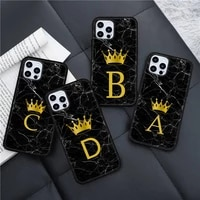 marble letters pattern phone case for iphone 11 12 pro xs max 8 7 6 6s plus x 5s se 2020 xr mini