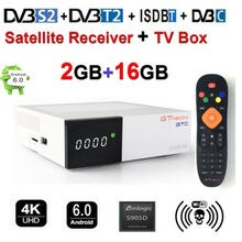 GTMEDIA GTC DVB-T2/S2/C ISDBT Smart TV BOX H.265 2GB + 16GB bulit in WIFI 4K 3D Google Netflix IPTV Cccam Set Top Box Android Box