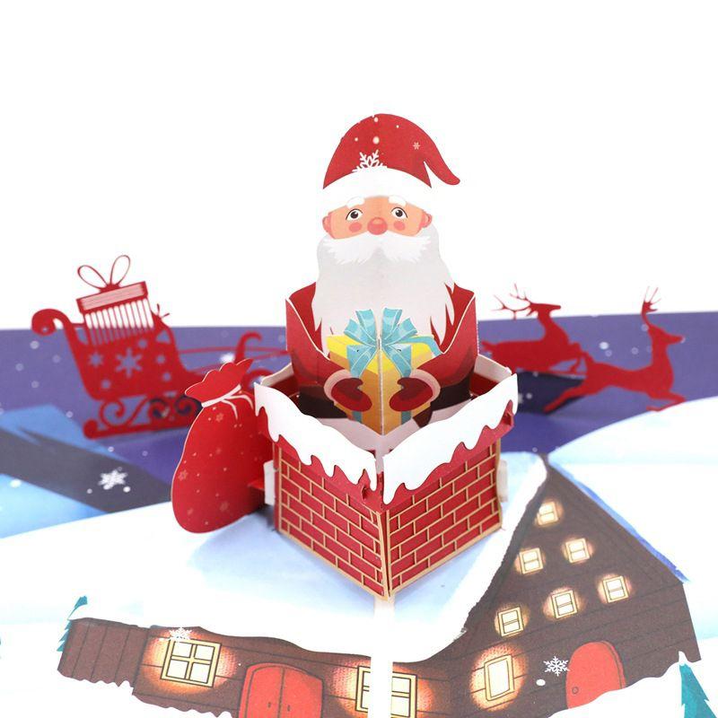 1 Uds. Tarjetas de felicitación 3D Up para fiesta del Día de San Valentín de Navidad con la tarjeta del poste del corte del sobre para la decoración de la boda del cumpleaños Dropship