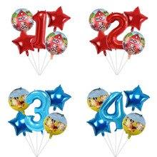 5pcs Farm Animal Balloons 32