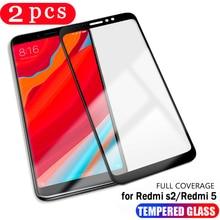 2 pièces pour xiaomi redmi note 6 pro 6A S2 film de protection en verre trempé pour redmi 4X note 4 5 5A pro plus protection décran de téléphone