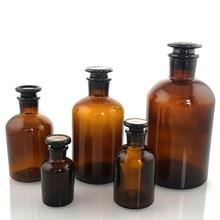 Meilleur verre réactif bouteille prix 60 ml-500 ml bouche étroite réactif bouteille petite bouche brun réactif bouteille