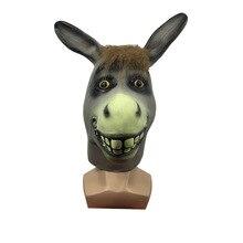 Drôle Mr idiot âne Animal Latex masque Halloween Costume respirant Festival Cosplay fête accessoires habiller