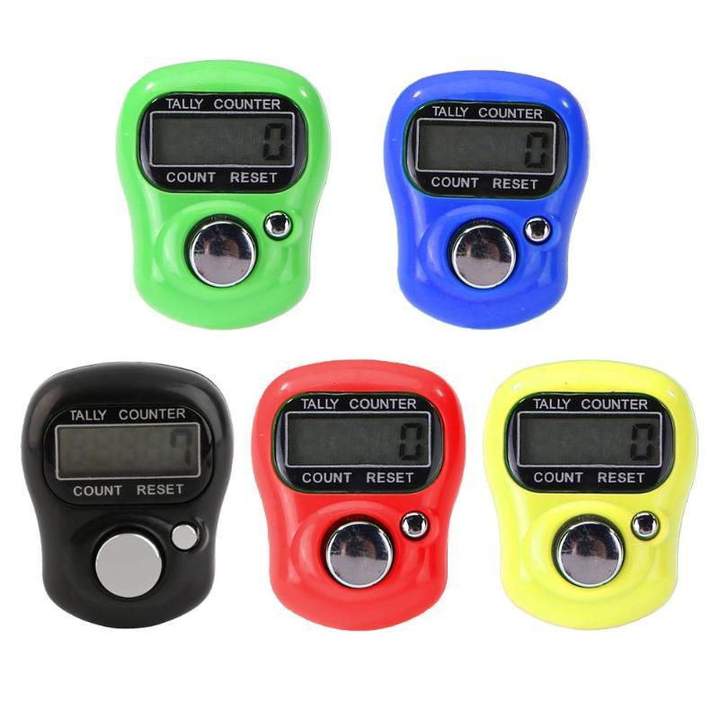 1 PZ 0-99999 de plástico contador de puntadas marcador fila anillo de dedo electricista uso AG3 botón batería contador de Cuentas electrónico preciso