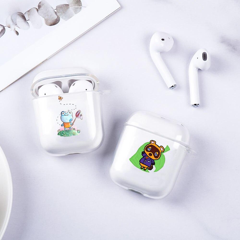 Чехол для Airpods, мягкий чехол для Airpods 1 2, Bluetooth, беспроводной чехол для наушников, прозрачный чехол для зарядки