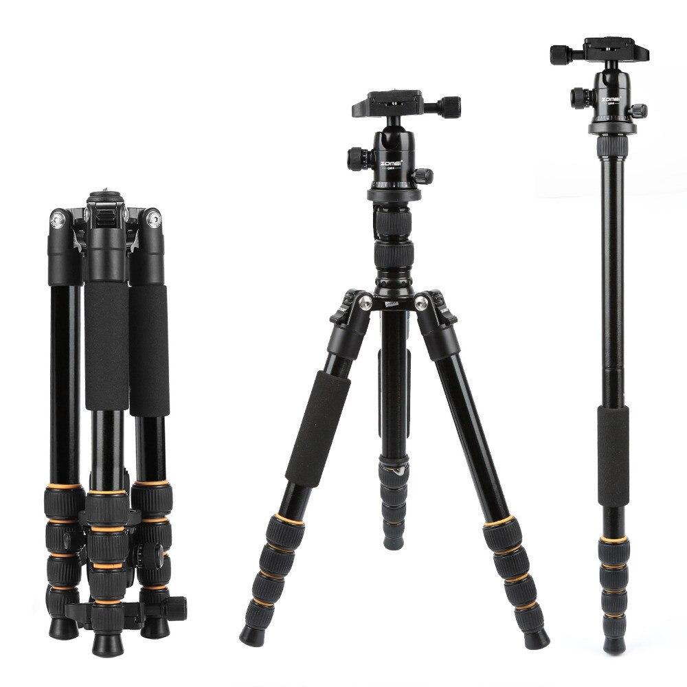 ZOMEI, trípode estable liviano portátil Q666 profesional de aluminio para cámara Canon, Sony, Digital, SLR, DSLR