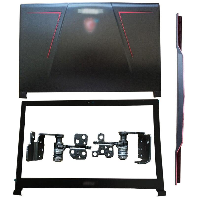 Nuevo para ordenador portátil MSI GE73 GE73VR 7RF-006CN, cubierta trasera LCD, bisel frontal, bisagras, cubierta de bisagras, reposabrazos, cubierta inferior 3077C1A213HG017