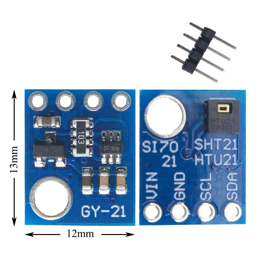1 Pcs Vochtigheid Sensor Met I2C Interface Si7021 GY-21 HTU21 Forarduino-Industriële Hoge Precisie
