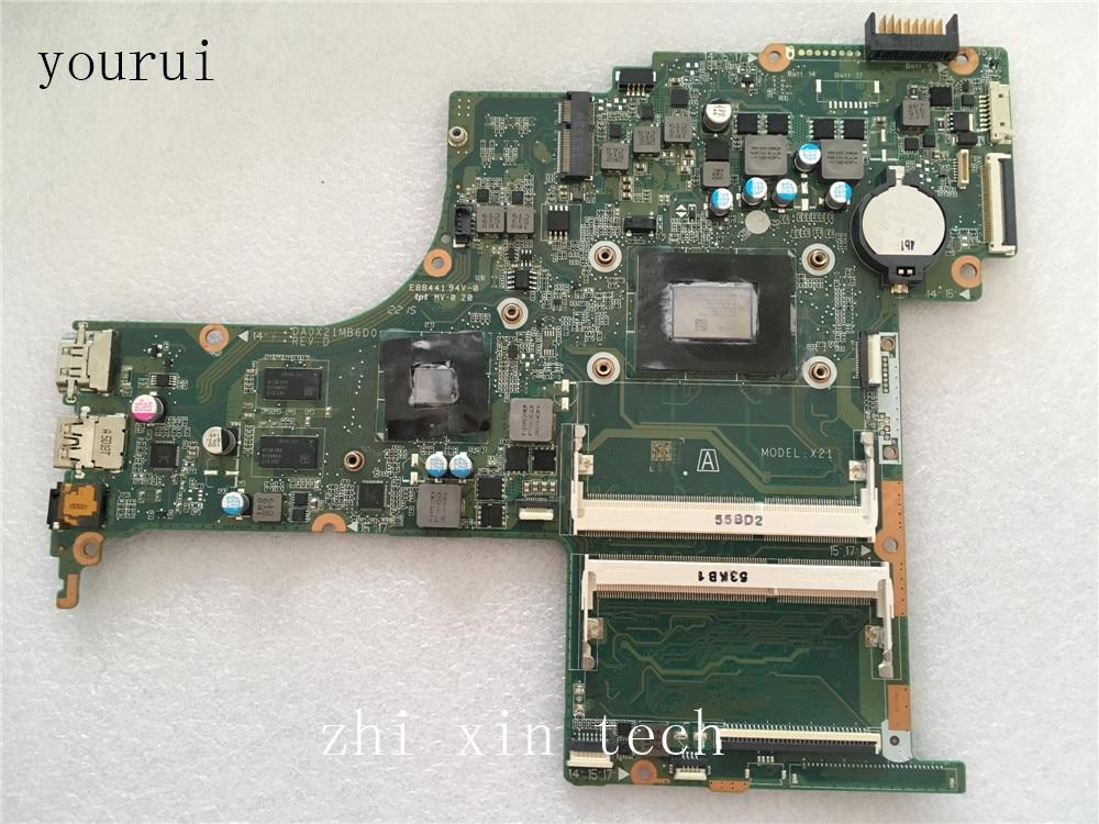 Yourui ل HP بافيليون 17-G اللوحة الأم للكمبيوتر المحمول مع A10-8700P وحدة المعالجة المركزية DA0X21MB6D0 DDR3 اختبار العمل الكمال