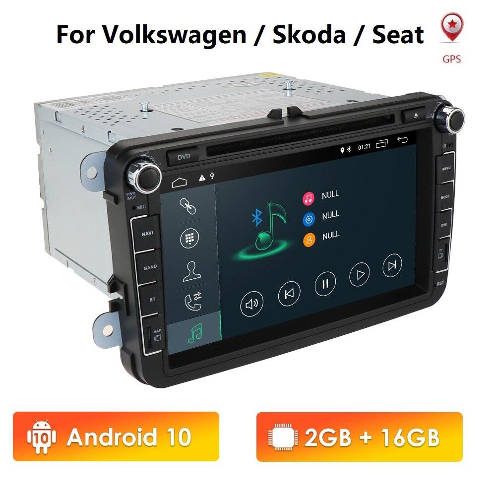 """DVD para coche Android 10 8 """"2din para VW POLO GOLF 5 6 POLO PASSAT B6 CC JETTA TIGUAN TOURAN EOS SHARAN SCIROCCO CADDY 4G GPS Navi RDS"""