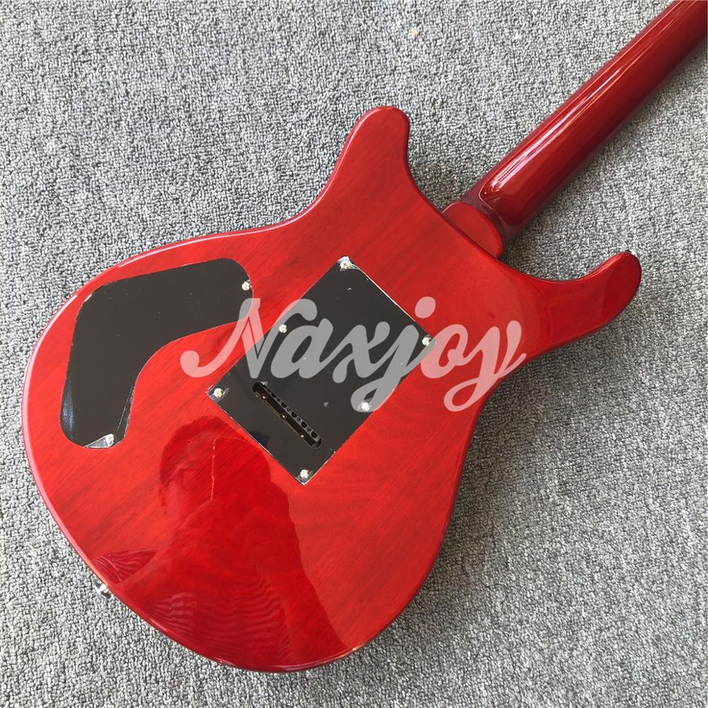Glossy Red 6 strings Electric Guitar,In stock Mahogany body Rosewood fingerboard Guitar,Real photos enlarge
