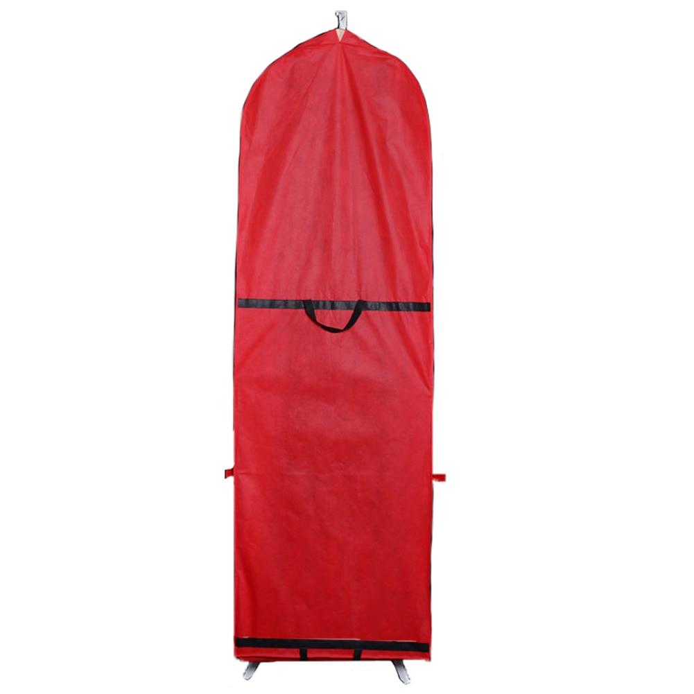 Bolsa de almacenamiento de ropa portátil con funda para vestido de novia bolsa larga a prueba de polvo Zip ropa plegable Protector