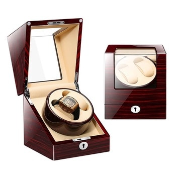 Newest Automatic Watch Winder Storage 2+0 Slots Mechanical Watches Box Double Jewelry Display  Case Organizer Winding Holder