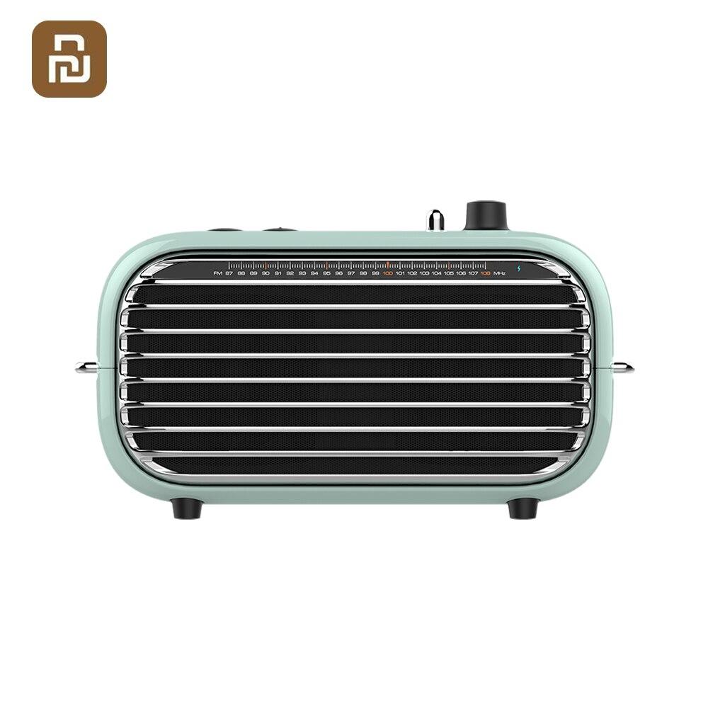 Youpin lofree clássico bluetooth alto-falante sem fio portátil rádio fm baixo player de áudio amplificador música aux bateria conexão