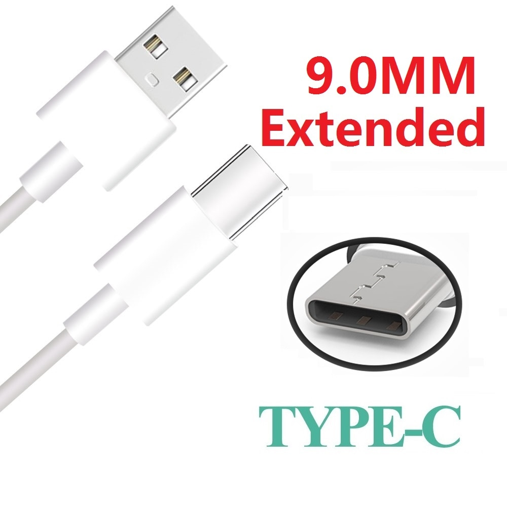 1M Extra largo 9mm conector, tipo-C Cable de carga de Cable para Oukitel U25 Pro U23 Wp2 K10 U18 K5000 K10000 Vernee X Usb, Usb-c