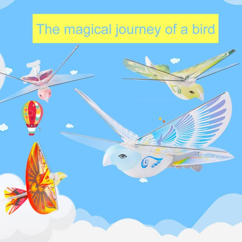 Flying Birds Electronic Mini RC Drone Toys Helicopter 235x275x70mm 360 Degree Flying RC Bird Toy 2.4 GHz Remote Control E-Bird enlarge
