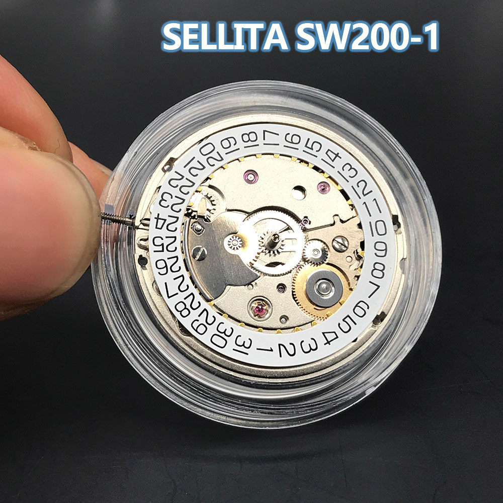 SW200-1 Automatic Self-Winding Mechanical Movement Hacking/Quickset Date Sellita Original SW200 (2824) 26 Jewels Swiss Made Movt