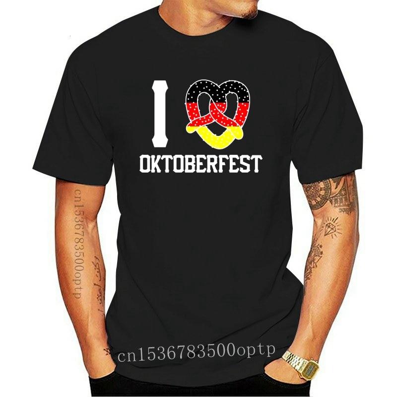 New 2021 2021 Summer Casual O-Neck Solid Color Loose Basic I (Pretzel) Oktoberfest, Germany Flag Design At Shirt