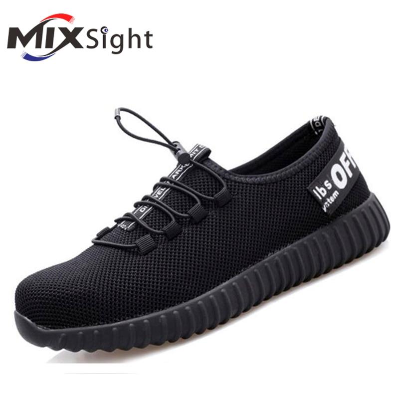 ZK20-أحذية أمان خفيفة الوزن للرجال والنساء ، أحذية عمل آمنة مع غطاء إصبع القدم الصلب ، مسامية ، مقاومة للكسر ، لفصل الصيف والخريف