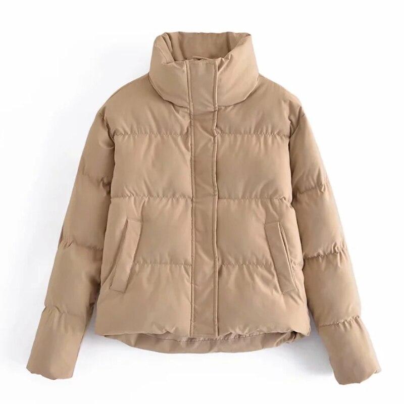 Aachoae المرأة الدافئة سترة معاطف السترة بلون زر حتى سميكة معطف دافئ خمر كم طويل جيوب ملابس خارجية أنيقة
