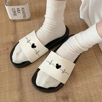 electrocardiogram printed comfort ladies shoes female slippers sandals fashion summer women slippers sandals