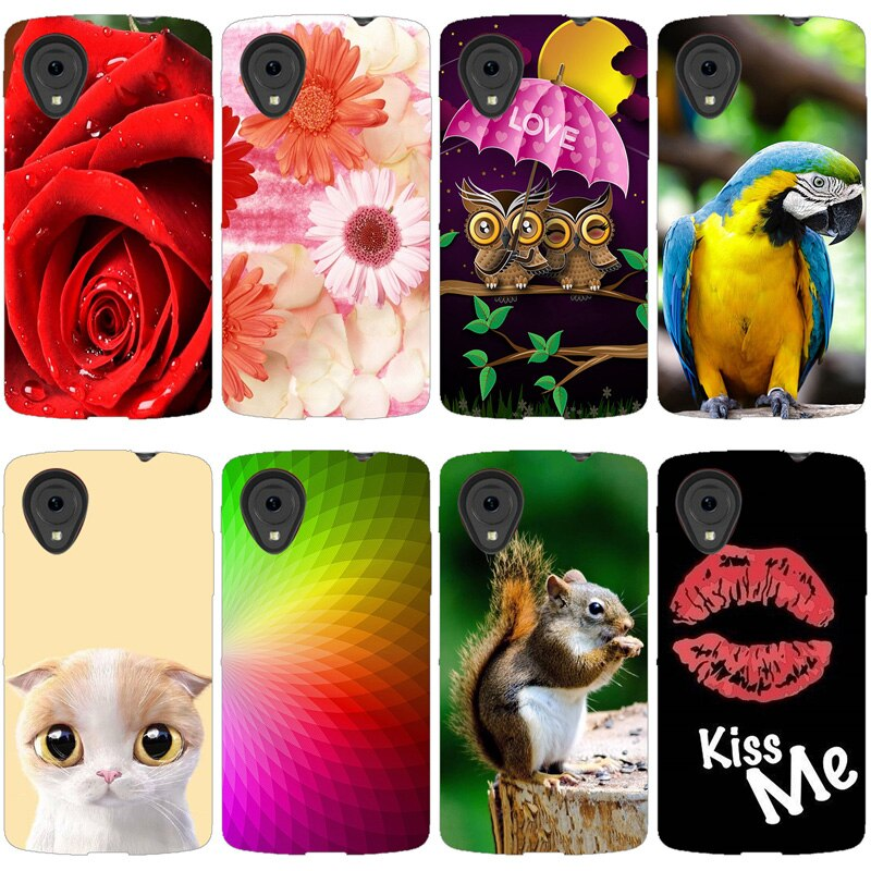 "New Fashion Charme 5 Case For LG Nexus 4.95 ""Design Perfeito D820 Paiting Colorido Tampa Traseira Para LG Google d821 E980 Coque Capa"
