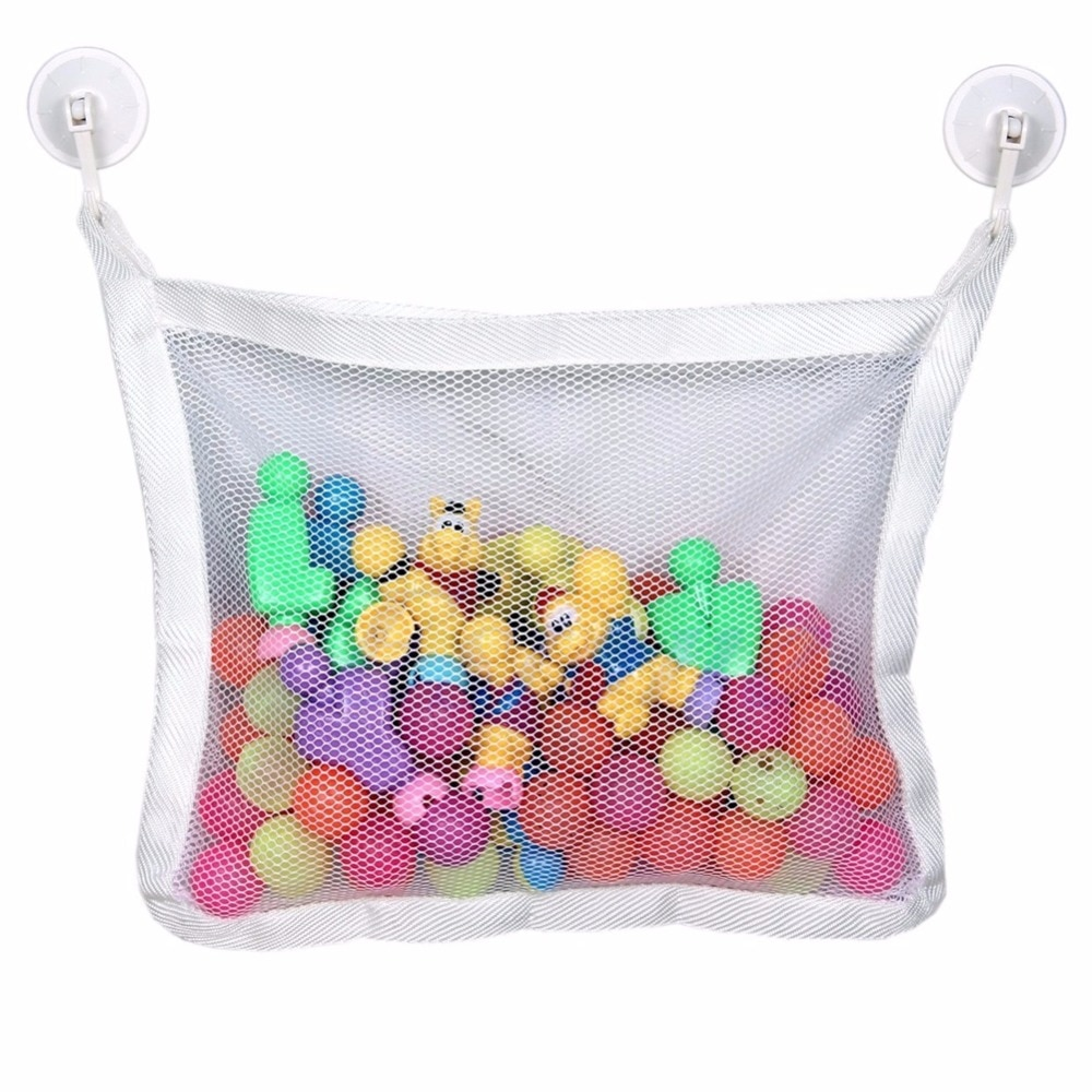 Baby Bath Time Cute Toy Tidy Storage Suction Cup Bag Mesh Bathroom Organiser Net for Cognitive Float