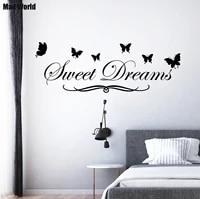 Mad World-doux reves papillon amour citation Stickers muraux  Stickers artistiques muraux  decoration de maison bricolage  autocollants muraux amovibles  decor de salle