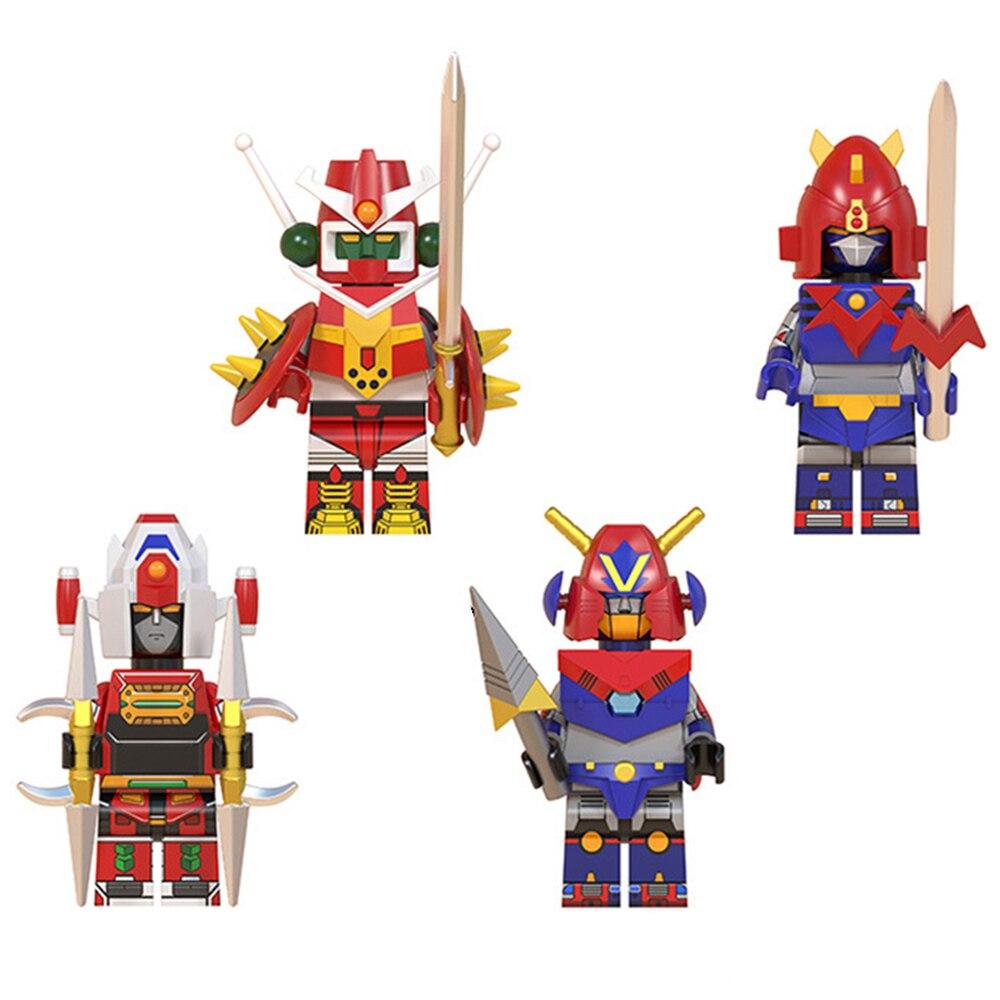 4 Uds Set Robot de Anime Mechander robo voltes V líder Daimos Com-Battler V figura de bloques de construcción Compatible modelo de LEGO regalo de Juguetes