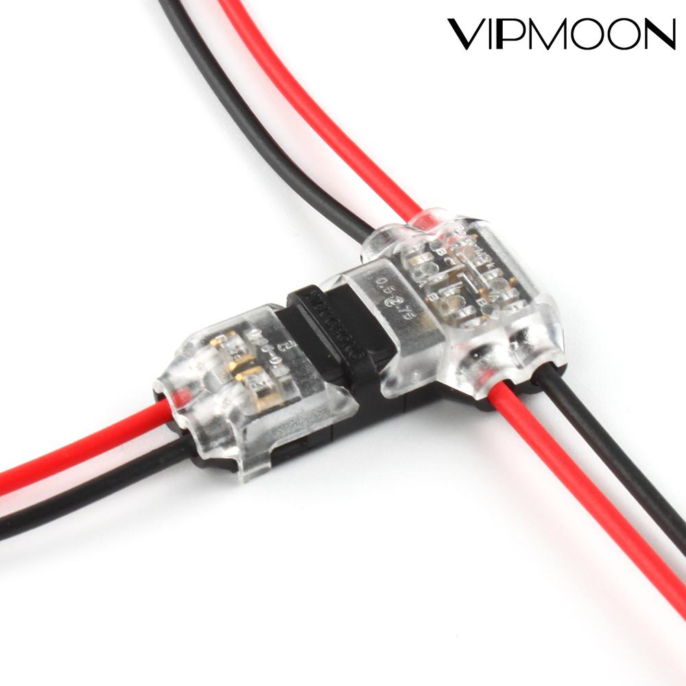 5/10pcs I/T type 1pin 2pin Quick Splice Scotch Lock Wire Connector for Terminals Crimp 22-18AWG Wiring LED Strip Car Audio Cable